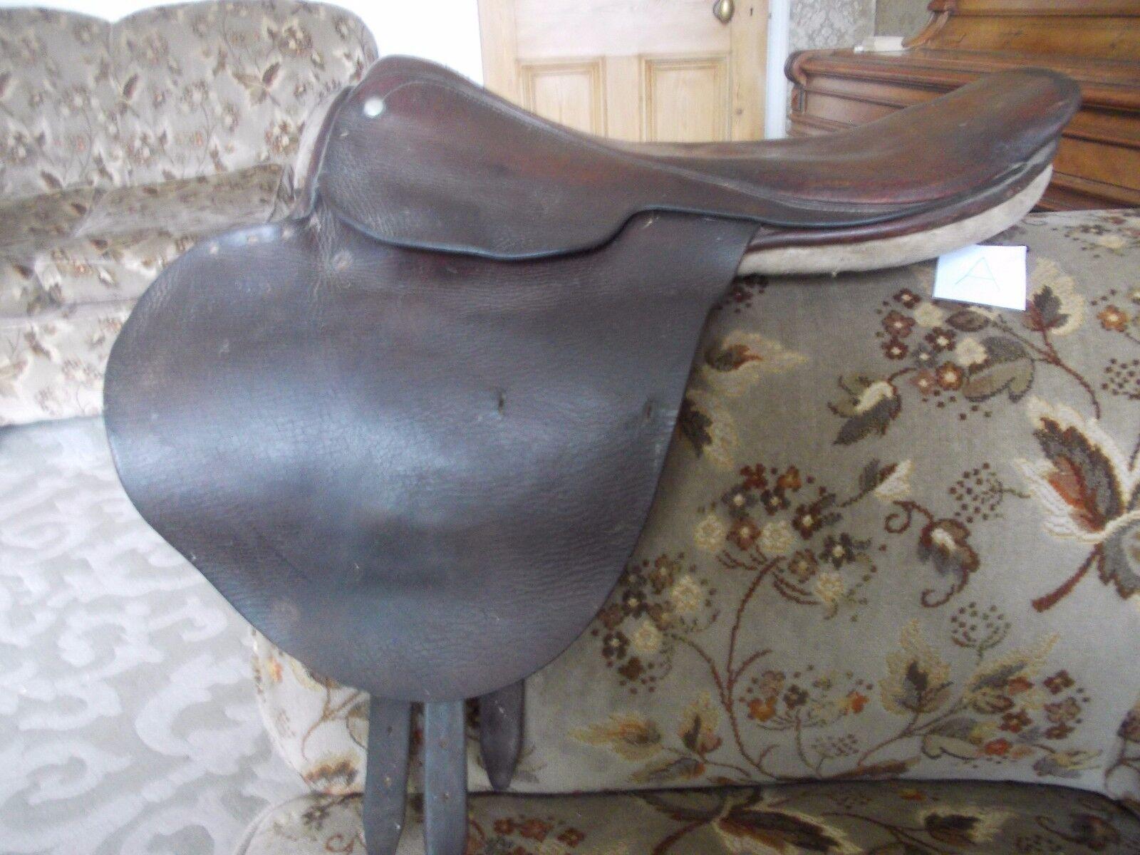 Vintage Antiguo ejercicio silla carreras de caballos (a)