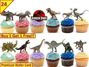 48 Jurassic World Dinosaur Edible Cup Cake Toppers