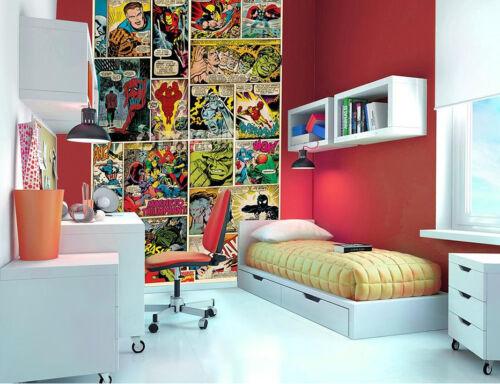 MARVEL COMIC KIDS FUN WALLPAPER MURAL PHOTO WALL PAPER POSTER ROOM BED MURALS