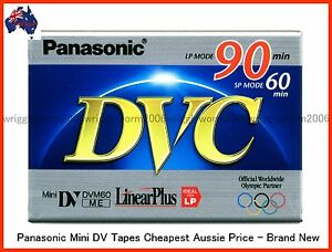 50-X-PANASONIC-Mini-DV-Tapes-60SP-90LP-Min-Brand-New-50-PACK-AUSSIE-STOCK
