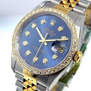 ROLEX-DATEJUST-STEEL-GOLD-TWO-TONE-JUBILEE-BRACLET-BLUE-DIAMOND-DIAL-BEZEL
