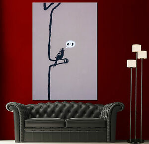 Wall art canvas print banksy bird singing tree san francisco home decor prints ebay - Home decor san francisco image ...