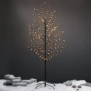 Albero-Di-Natale-100-Led-Bianco-Caldo-150cm-Decorazione-Interno-Esterno-Luci-dfh