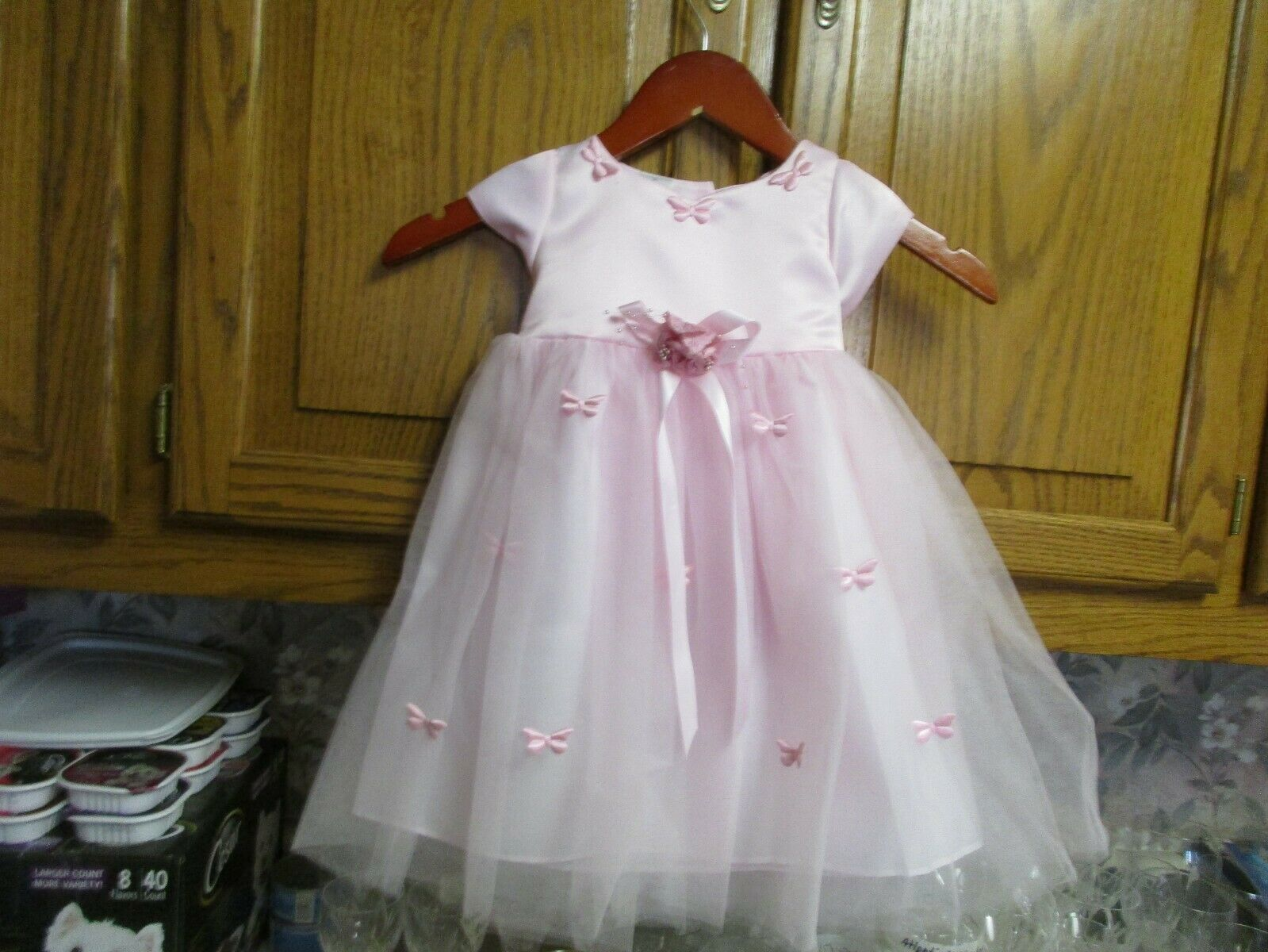 5135 K.I.D. COLLECTION 5135 PINK SZ M TODDLER Headband DRESS GOWN SPRING NWT