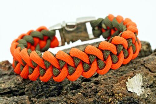 Paracord 550 Handmade Bracelet Shark Jar Bone Métal Clip Outdoor Survival EDC