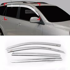 Chrome Window Sun Vent Visor Rain Guards 4P C542 For TOYOTA 2006-2011 2012 RAV4