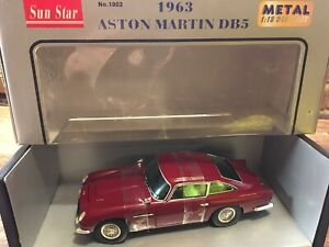 COLLECTIBLE-SUN-STAR-ASTON-MARTIN-DB5-1963-1-18-DEEP-RED-BURGUNDY-BOXED
