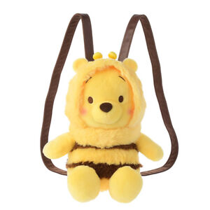 Winnie-the-Pooh-Plush-Doll-BEE-Color-of-Pooh-Backpack-Bag-Disney-33cm