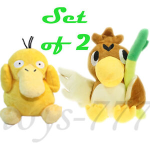 2X-Pokemon-7-034-Farfetch-039-d-And-5-034-Psyduck-Stuffed-Animal-Duck-Scallion-Plush-Toys
