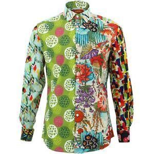 buy online 7cba9 81428 Dettagli su Camicia da uomo forte Originals SU MISURA fit casuale Pannello  Retro Psichedelico lungo- mostra il titolo originale