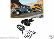 """Jeep Tow Combo: 2"""" Receiver Hitch & Wiring Harness For 2007-2016 Jeep Wrangler"""