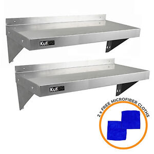 Details About 2 X Commercial Catering Stainless Steel Shelves Kitchen Wall Shelf 900 1940mm