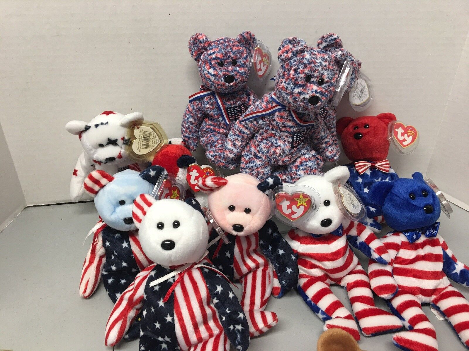 1999 Beanie Baby Bears. American Themed All. 11 Set.    Rare Spangle