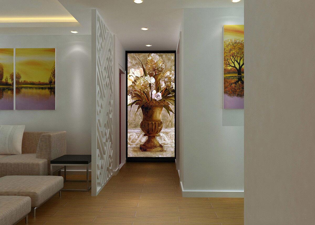 3D Metal Vase Blaumen 73 Tapete Wandgemälde Tapete Tapeten Bild Familie DE Summer
