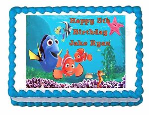 Edible Cake Decoration Sheets : FINDING NEMO party decoration edible cake image cake ...
