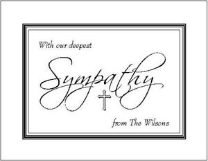 Repeating Family Name Note Cards~Stationery~Style #4