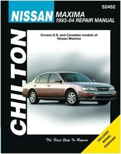 chilton nissan maxima 1993 2008 repair manual 52452 ebay rh ebay com 1989 Nissan Maxima 1993 nissan maxima owners manual