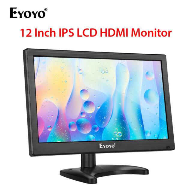 "12"" 1920x1080 IPS LCD Monitor HDMI VGA BNC AV USB For Computer CCTV PC DVR 178°"