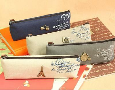C218 classic restore ancient canvas students stationery pen bag pencil cases