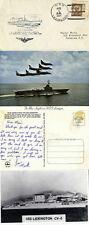 USS LEXINGTON 1 APRIL 1934 NAVAL CACHED COVER & TWO POSTCARDS