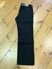 Cottonfield 'Moleskin' Brushed Cotton Black Jeans - 40/36 EXTRA LONG