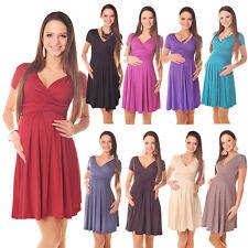 Beautiful Maternity Short Sleeve Summer Dress Size 8 10 12 14 16 18 8417