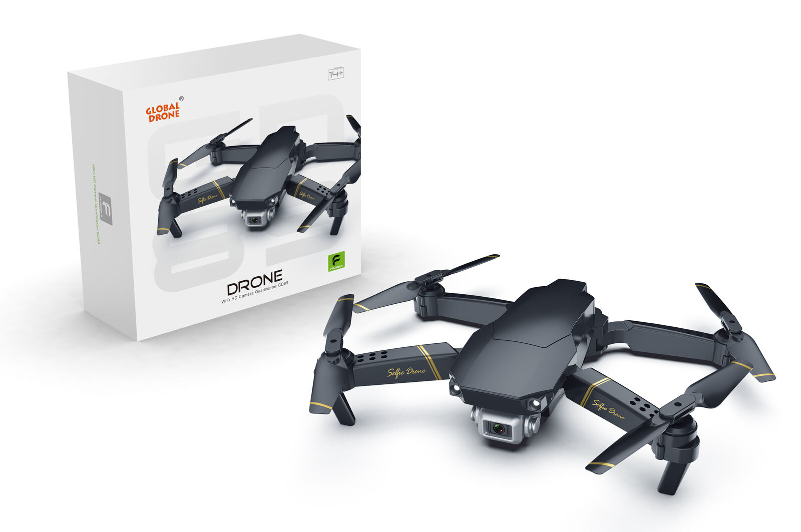 Upgrade Drone X Pro - FLY MORE KIT - Foldable Quadcopter WIFI FPV 1080P Camera❤