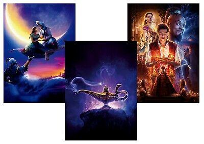 Disney Aladdin Jasmine Genie Jafar Abu A5 A4 A3 Textless Movie Dvd Posters Ebay