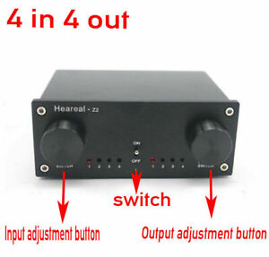 4-Input-4-Output-Lossless-Audio-Signal-Switcher-Switch-Splitter-Selector-DC-12V