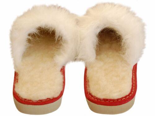 Größe 36-41 -Echtleder Damen Hausschuhe warm JA132-CE Latschen,Pantoffeln