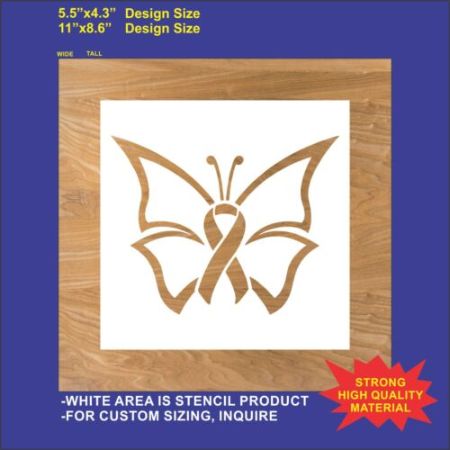 Butterfly Cancer Ribbon Flexible Plastic Stencil Reusable