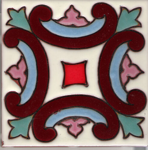 "Art Nouveau Reproduction Decorative Ceramic Tile Sinola /'B/' 6/""x6/"""