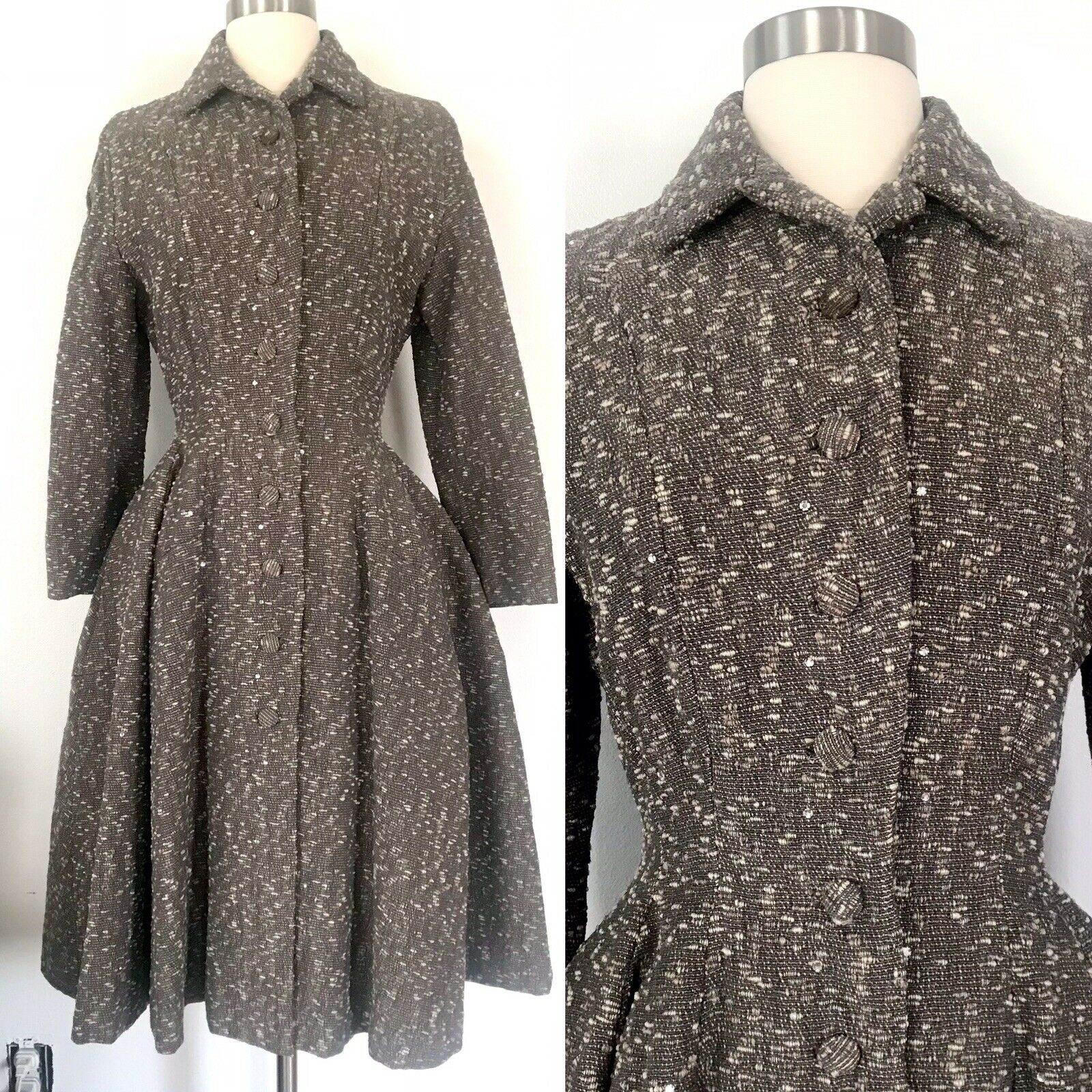 Vintage 1950's Lilli Ann Princess Coat Fit & Flar… - image 1
