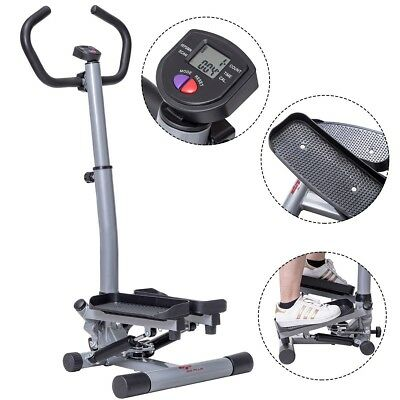 Fitness Workout Adjustable Stair Stepper Exercise Gym Machine w// Handle Bar US