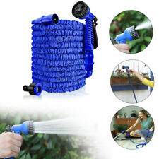 7,5-45m Dehnbar Gartenschlauch Flexibler Wasserschlauch Schlauch Blau Wasserrohr