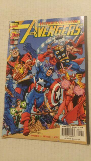 Avengers #1 February 1998 Marvel Comics Busiek Perez Vey