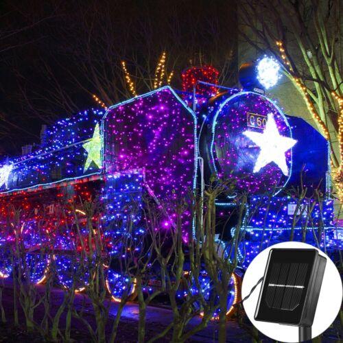 100-500 LED Blue Solar Power Fairy Garden Lights String Outdoor Party Xmas Patio