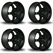 "4 x Rota Grid Matt Black Alloy Wheels 15x7""|ET40|4x100 PCD|67.1mm Centre Bore"