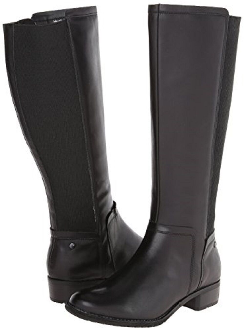 6.5 M Hush Puppies Women's Lindy Chamber Riding Tall Boots Black Waterproof