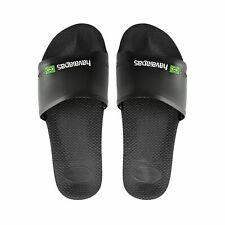 08babc53b Havaianas Brasil Sliders Mens Beach Shoes Slides Sandals Flip Flops White  Black