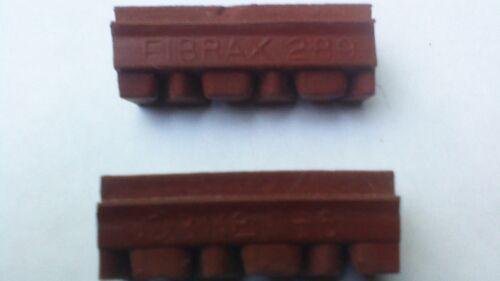 CLASSIC RACER RED FIBRAX RED 289 BRAKE BLOCKS INFILL BLOCKS 1930/'s,40,s,50,s