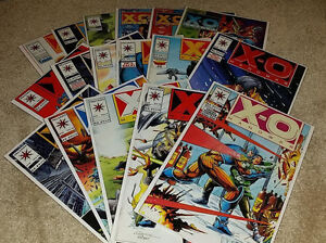 17-X-O-Manowar-Valiant-Comics-Comic-Book-Lot-Bagged-Boarded-1992-1996
