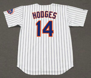 info for 2ab11 98b84 Details about GIL HODGES New York Mets 1962 Majestic Throwback Home  Baseball Jersey