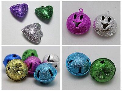 Artesanía Hazlo tú mismo Mezclado Color Stardust Jingle Bells encanto carillón de Navidad forma varios