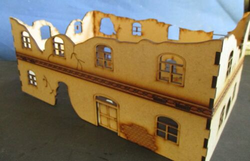 28mm RUIN House or Factory 28mm Set A laser cut MDF 3MM bolt action Scenery WW2