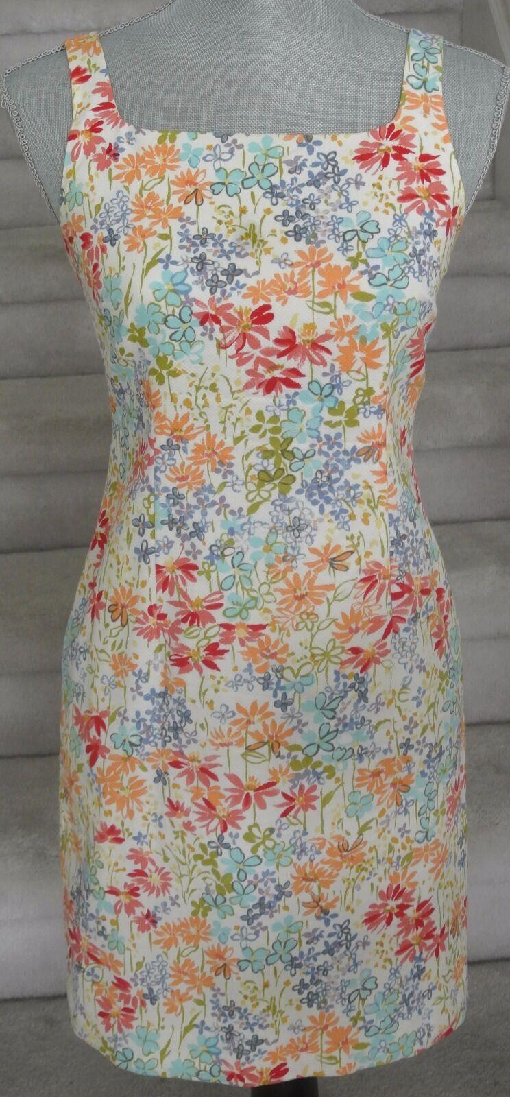 Multicolor Floral ANN TAYLOR LOFT Halter Mini Cotton Dress, Sz 2P