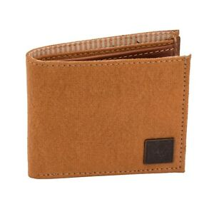 0f917f3e8486 CANVAS & AWL RFID Blocking Canvas Wallet With Genuine Leather Trim ...
