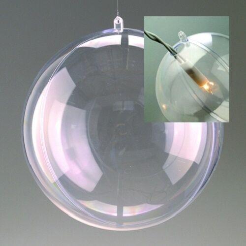 Acrylkugeln teilbar mit Öse und Loch für Beleuchtung 100-200 mm wählbar