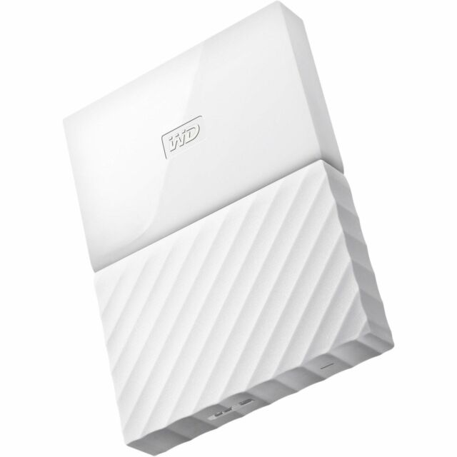 Western Digital 1TB My Passport White USB 3.0 625MB/s External Hard Drive sm UK