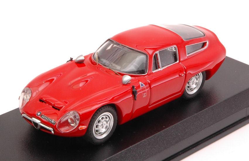 Todo en alta calidad y bajo precio. Alfa Romeo Romeo Romeo tz1 1963 prova rojo 1 43 Model Best Models  precio razonable